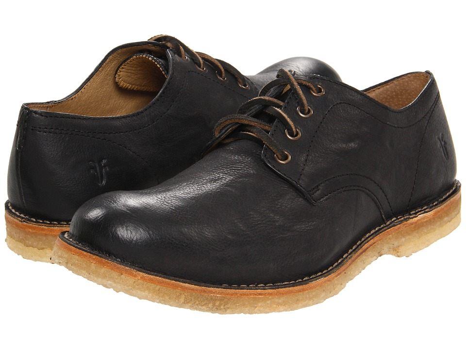 Frye - Hudson Oxford (Black Tumbled Full Grain) Men