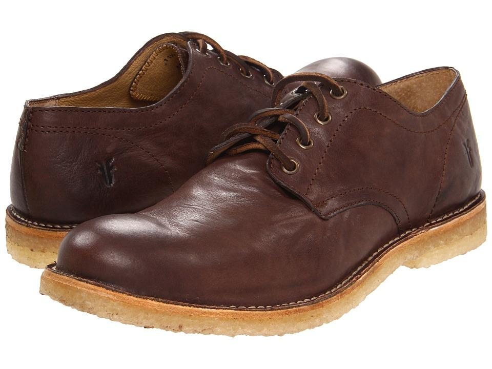 Frye - Hudson Oxford (Chocolate Tumbled Full Grain) Men