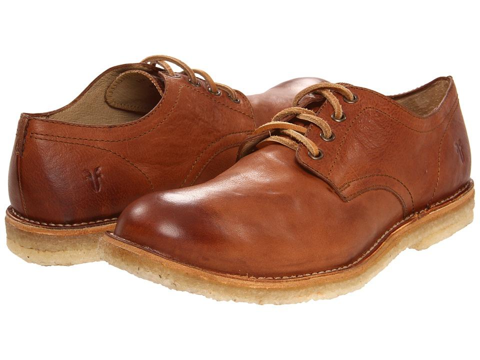 Frye - Hudson Oxford (Cognac Tumbled Full Grain) Men