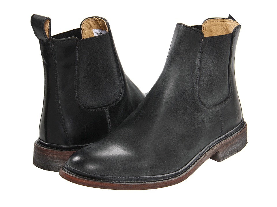 Frye - James Chelsea (Black Antique Pull Up) Men