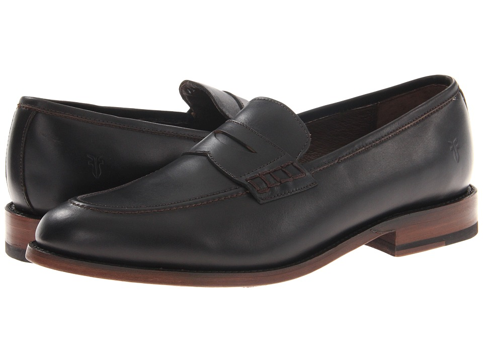 Frye - James Penny Loafer (Black Smooth Full Grain) Men's Slip on Shoes