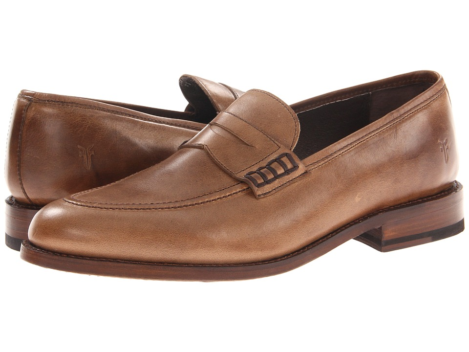 Frye - James Penny Loafer (Tan Smooth Full Grain) Men's Slip on Shoes