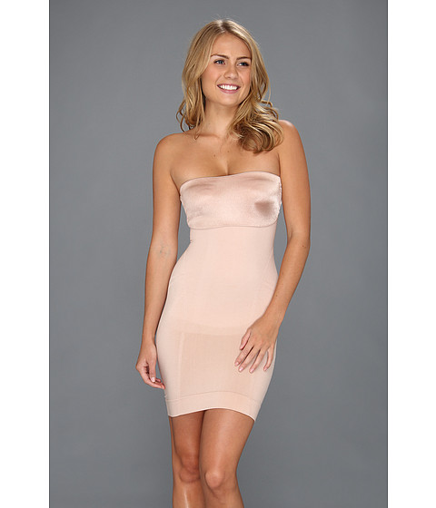 Spanx - Slimmer Shine Strapless Slip (Rose Gold) Women
