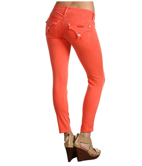 Hudson Colllin Crop Skinny in Tangerine (Tangerine) Women's Jeans
