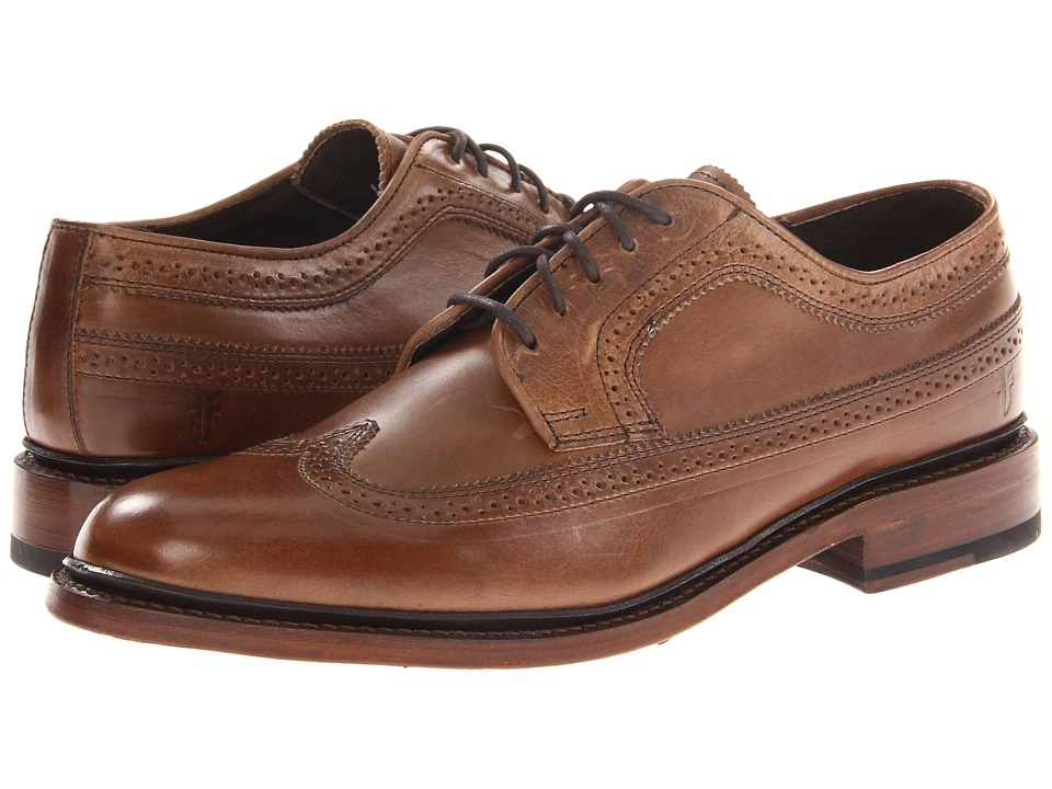 Frye - James Wingtip (Tan Smooth Full Grain) Men's Lace Up Wing Tip Shoes
