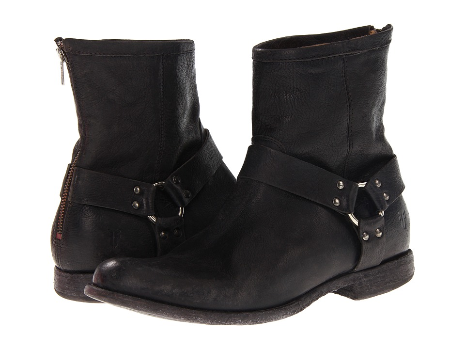 Frye - Phillip Harness (Black Stone Antiqued) Men