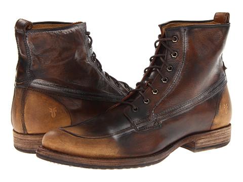 Frye - Phillip Work Boot (Dark Brown Vintage Brush Off) Men