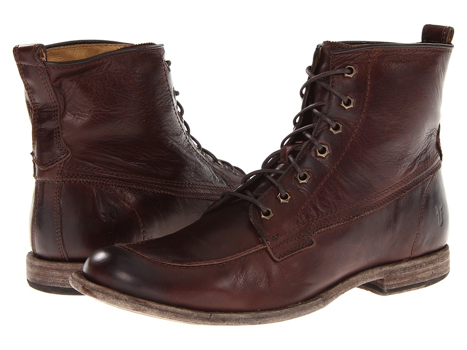 Frye - Phillip Work Boot (Dark Brown Soft Vintage Leather) Men