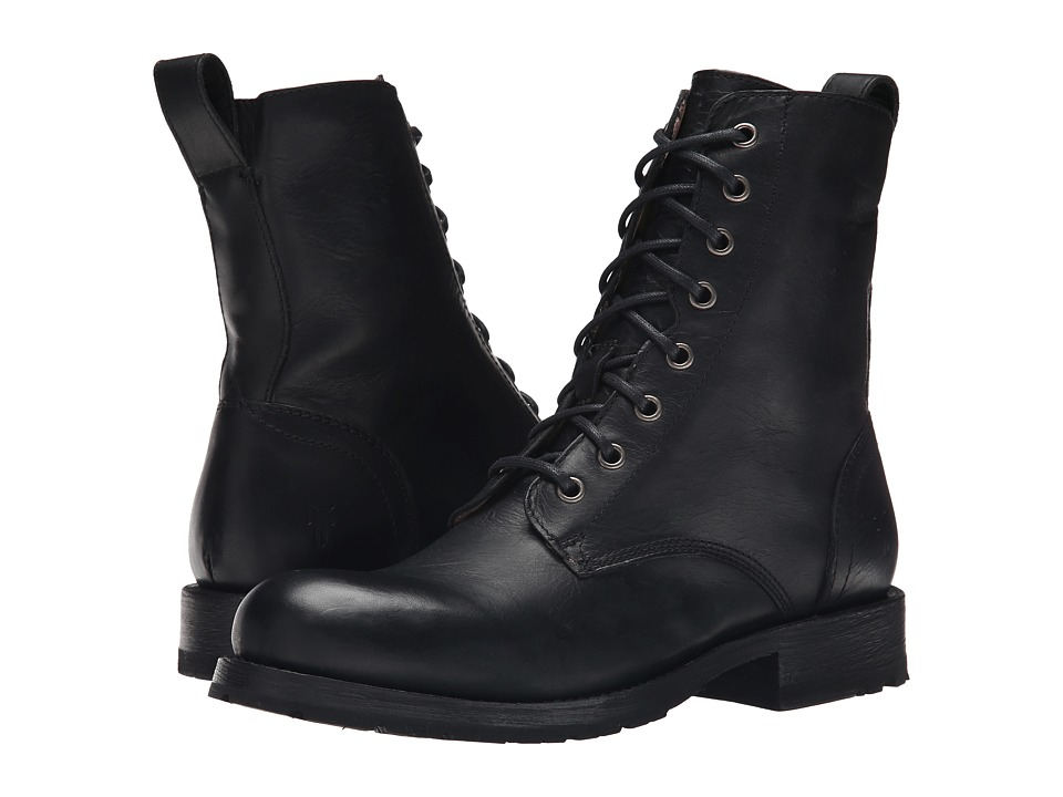 Frye - Rogan Tall Lace Up (Black Antique Pull Up) Men