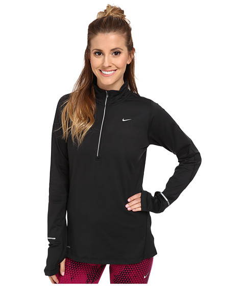 Nike - Element Half-Zip (Black/Black/Reflective Silver) Women's Long Sleeve Pullover