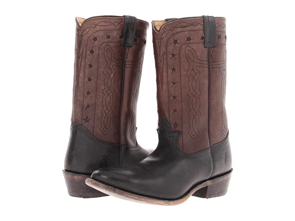 Frye - Wyatt Americana (Black Stone Antiqued) Cowboy Boots