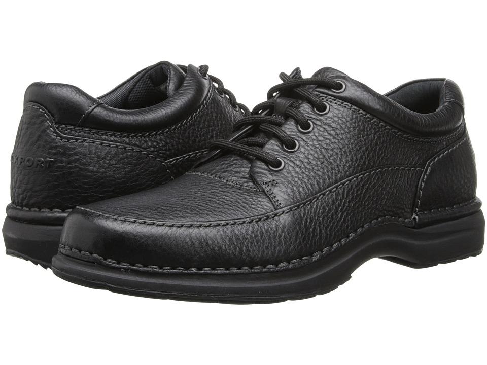 Rockport - World Tour Elite Encounter (Black Tumbled Leather) Men's Lace up casual Shoes