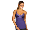 Nike - Glam-It Indy Long Bra (Night Blue/Purple Earth/Night Blue) - Apparel