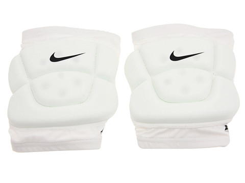 Nike - Volleyball Dri-FIT Bubble Knee Pad (White) Athletic Sports Equipment
