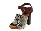 Juicy Couture - Fame (Natural Python Print / Oxblood Stingray Emboss) - Footwear
