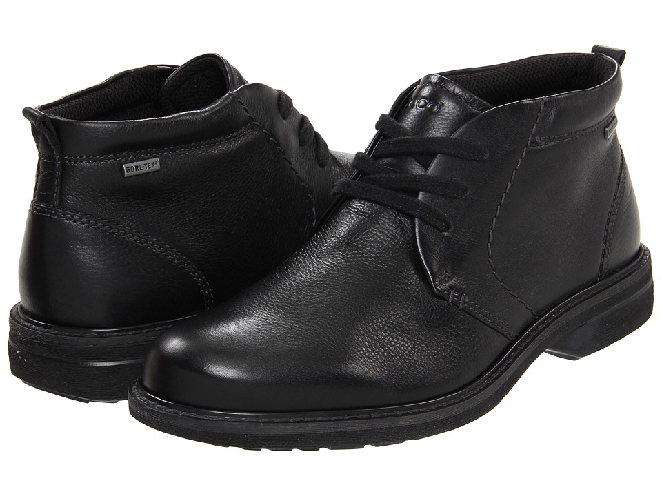 ECCO - Turn GTX Boot (Black) Men's Lace-up Boots