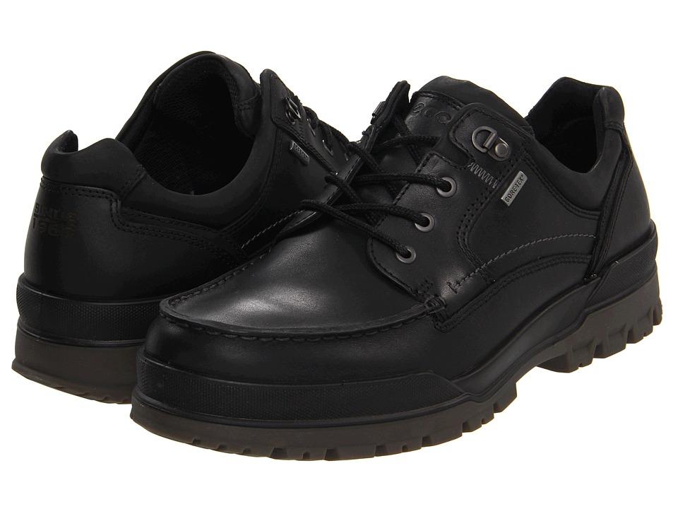 ECCO Track 6 GTX Moc Toe Tie (Black/Black) Men
