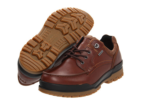 ECCO - Track 6 GTX Moc Toe Tie (Bison/Cocoa Brown) Men's Lace up casual Shoes