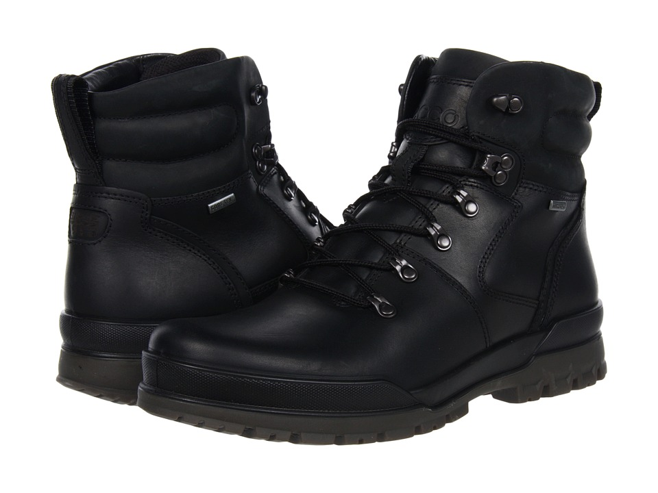 ECCO - Track 6 Boots 2 (Black/Black) Men's Lace-up Boots