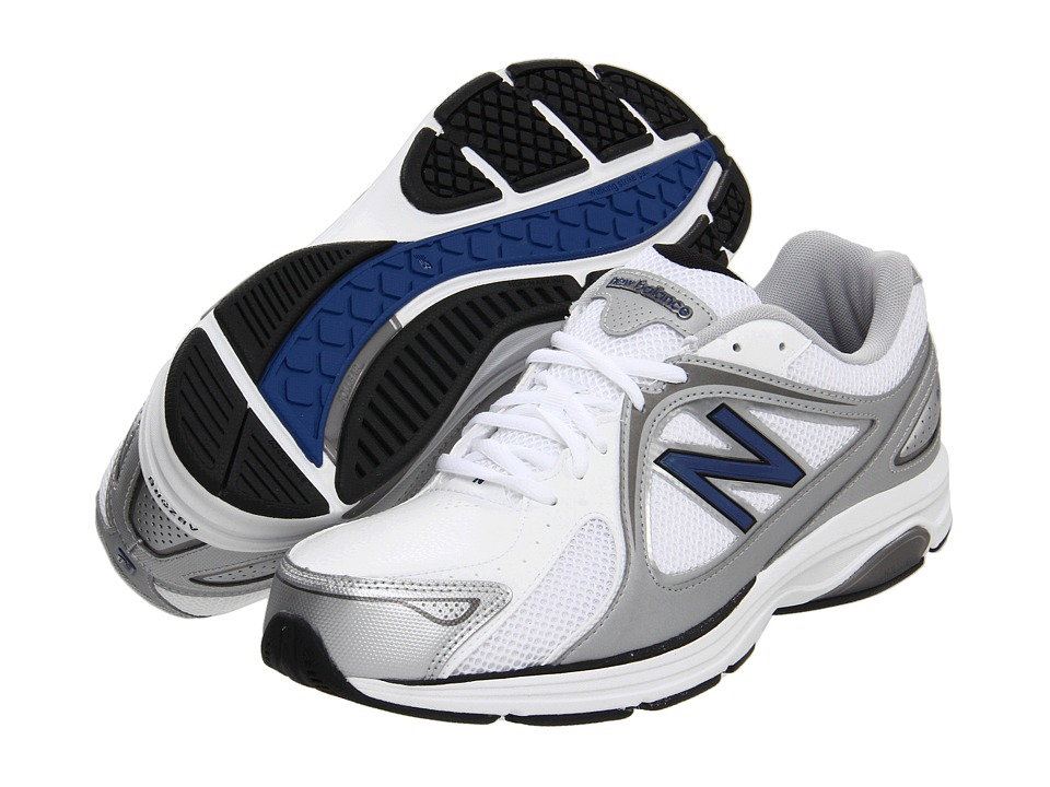 New Balance - MW847 (White/Navy) Men's Walking Shoes