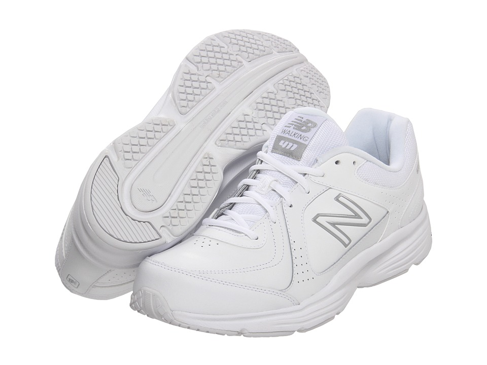 New Balance - MW411 (White) Men's Walking Shoes
