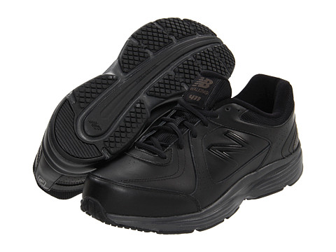 New Balance - MW411 (Black) Men's Walking Shoes