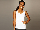 Nike - Statement Pleated Knit Tank Top (White/White/Black) - Apparel