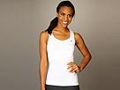Nike - Statement Pleated Knit Tank Top (White/White/Black) - Apparel