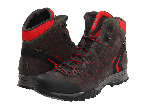 Lowa - Focus GTX Mid (Anthracite/Red) Men's Hiking Boots