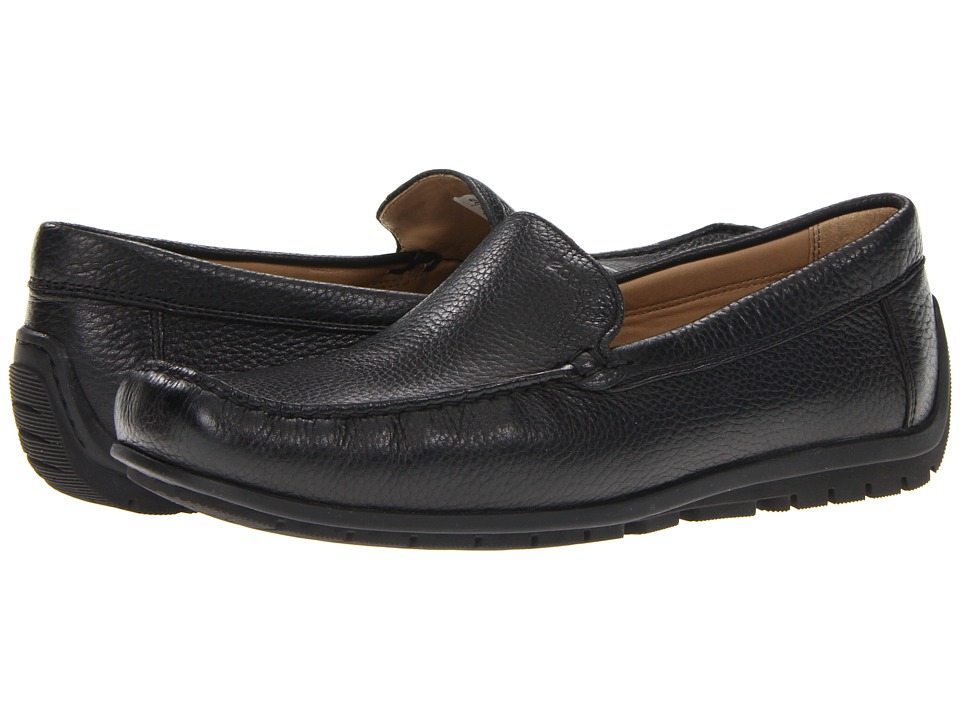 ECCO - Soft Slip-On (Black) Men's Slip on Shoes