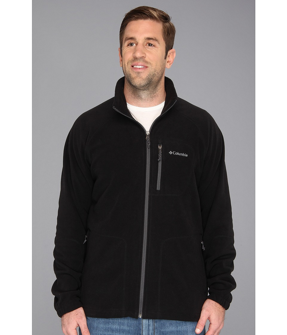 Columbia - Big Tall Fast Trek II Full Zip Fleece (Black) Men