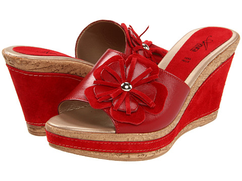 Spring Step - Narcisse (Red Leather) Women's Wedge Shoes
