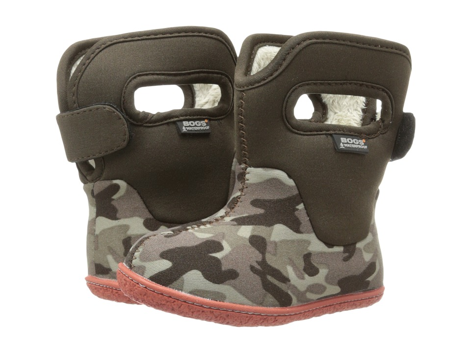 Bogs Kids - Classic Camo (Toddler) (Olive Camo) Kids Shoes