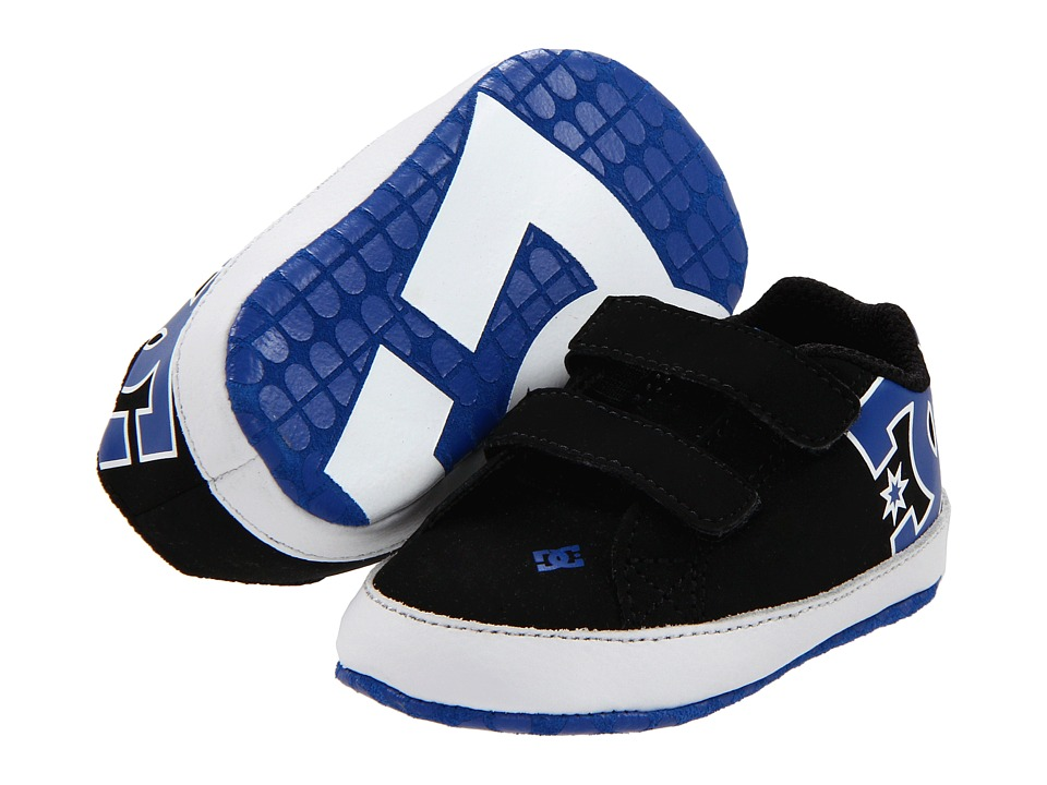 DC Kids - Court Graffik Crib (Infant) (Black/White/Royal) Boys Shoes