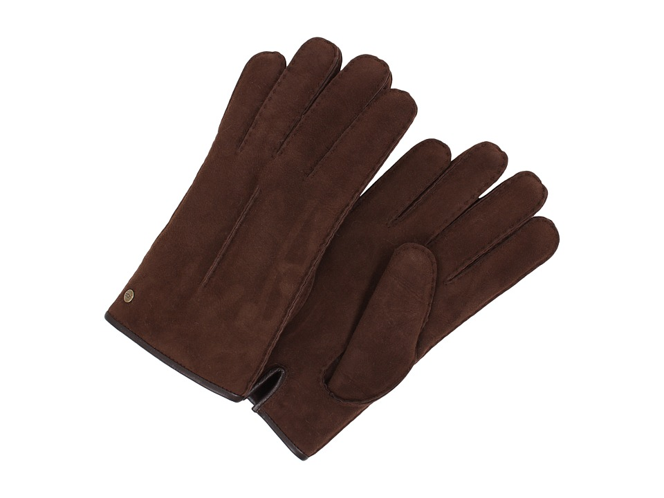 UGG - Single Point Glove w/ Binding (Chocolate) Dress Gloves