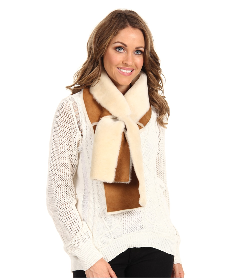 UGG - Classic Panel Scarf (Chestnut) Scarves