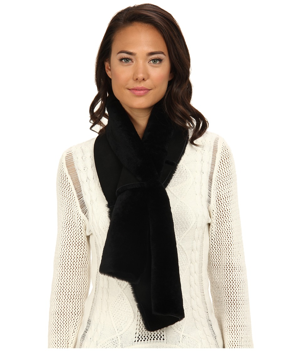 UGG - Classic Panel Scarf (Black) Scarves
