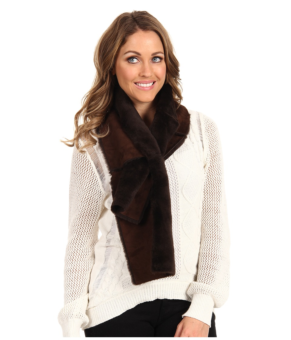 UGG - Classic Panel Scarf (Chocolate) Scarves