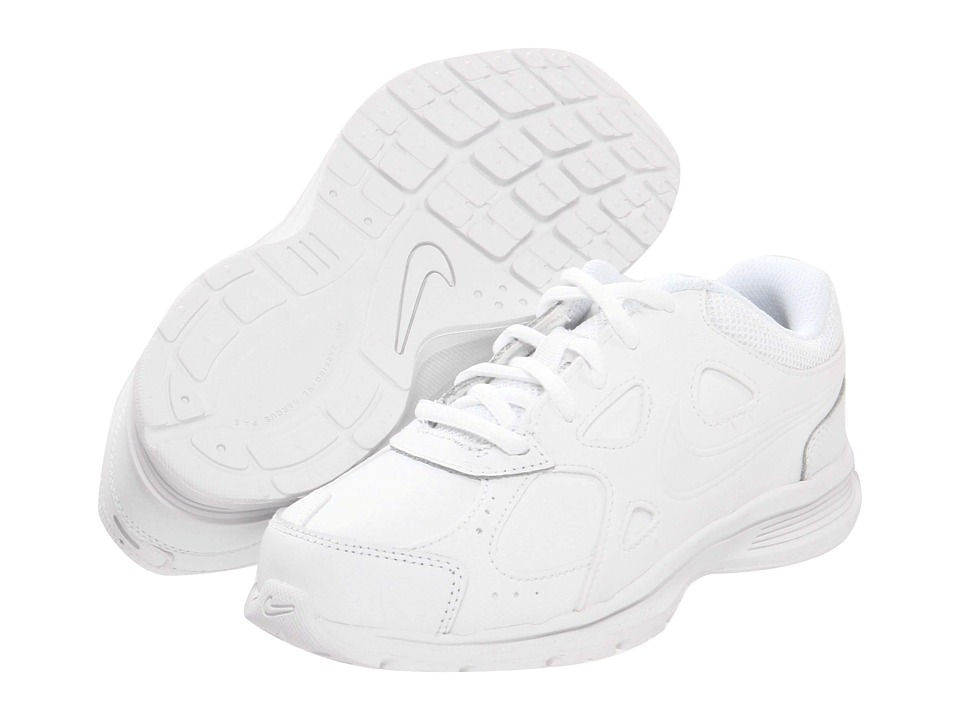 Nike Kids - Advantage Runner 2 Leather (Little Kid/Big Kid) (White/White) Kids Shoes