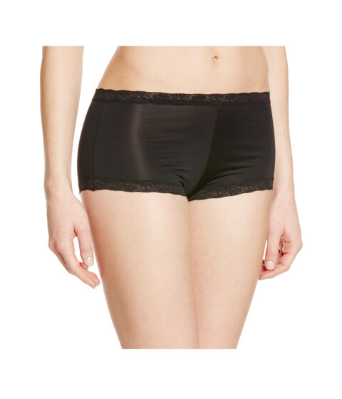 Maidenform - Microfiber and Lace Boyshort (Black) Women