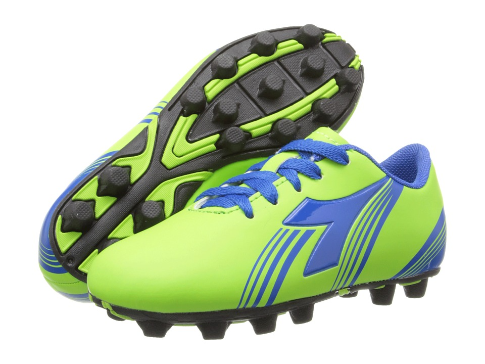 Diadora Kids - Avanti MD Jr Soccer (Toddler/Little Kid/Big Kid) (Lime Green) Kids Shoes