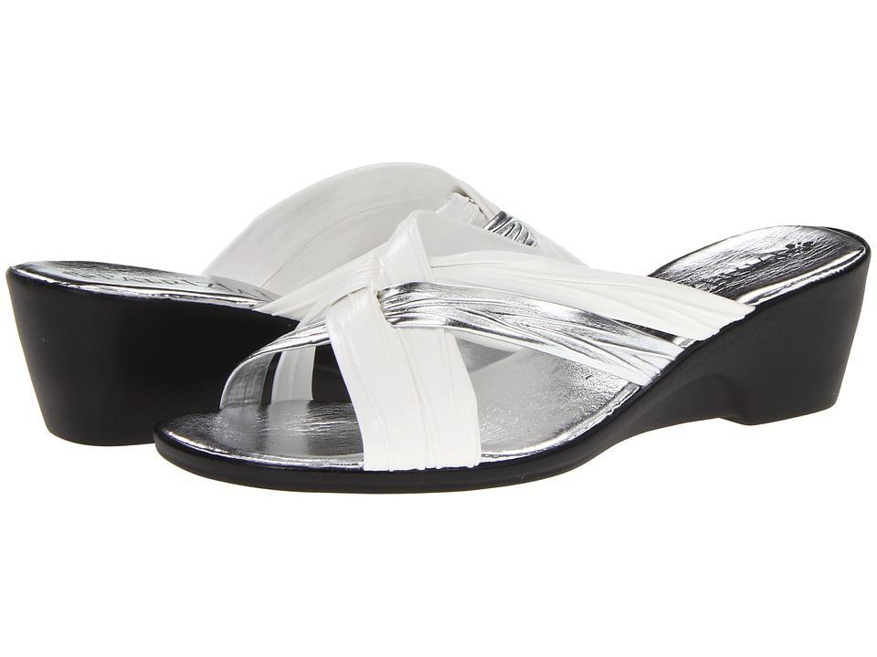 PATRIZIA - Apricot (White Leather) Women's Wedge Shoes