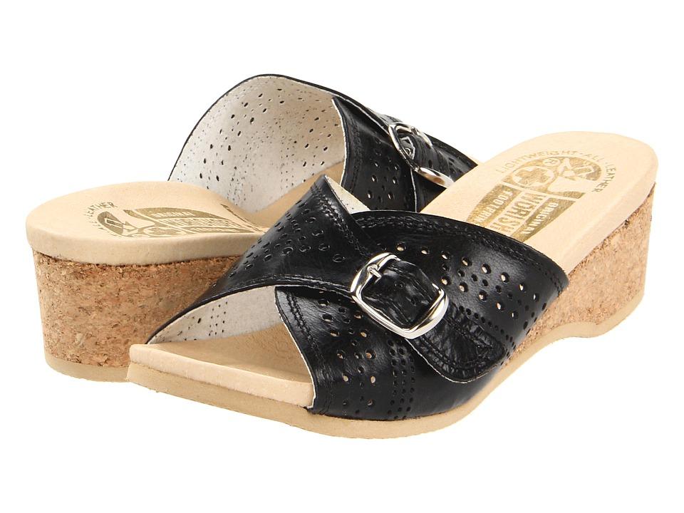 Worishofer - 251 (Black Leather) Women's Sandals