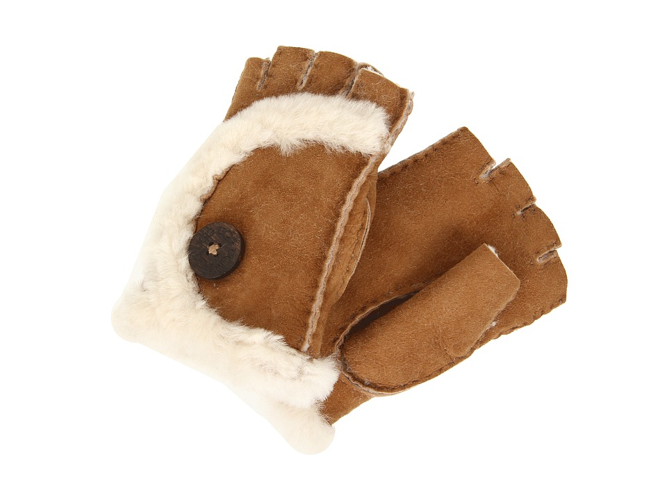UGG - Mini Bailey Fingerless Glove (Chestnut) Dress Gloves
