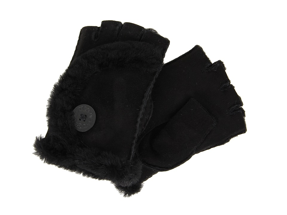 UGG - Mini Bailey Fingerless Glove (Black) Dress Gloves