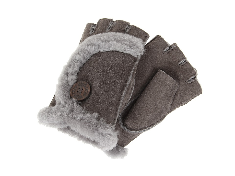 UGG - Mini Bailey Fingerless Glove (Grey) Dress Gloves