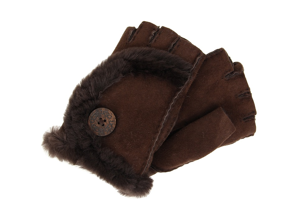 UGG - Mini Bailey Fingerless Glove (Chocolate) Dress Gloves