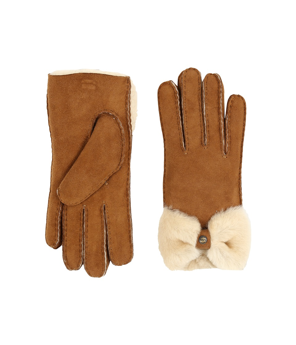 UGG - Classic Bow Shorty (Chestnut) Dress Gloves
