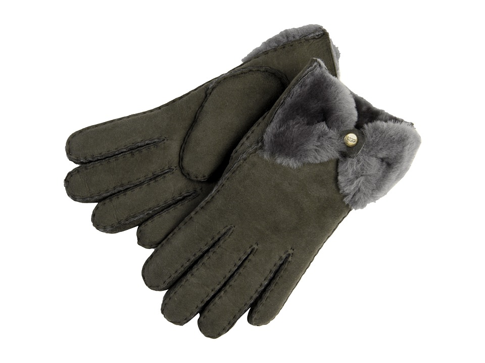 UGG - Classic Bow Shorty (Grey) Dress Gloves