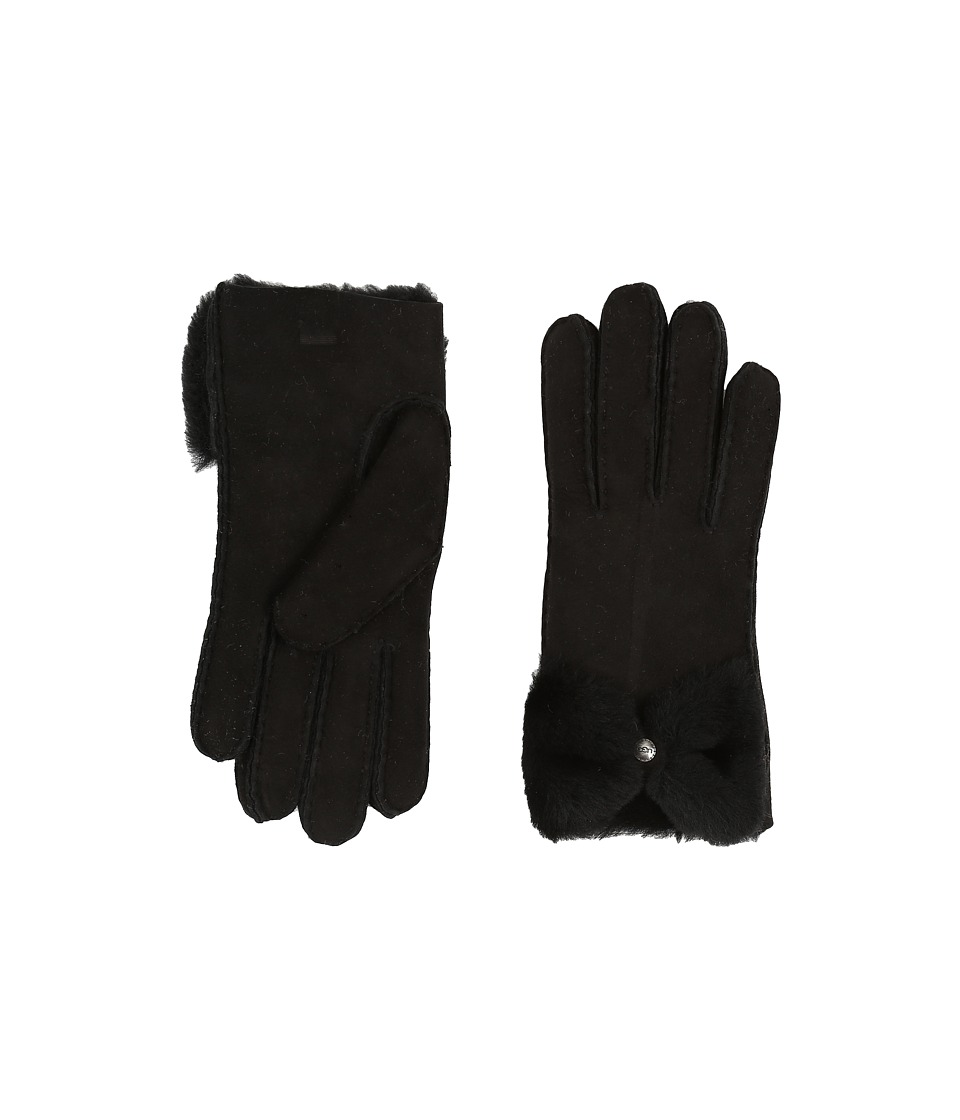 UGG - Classic Bow Shorty (Black) Dress Gloves